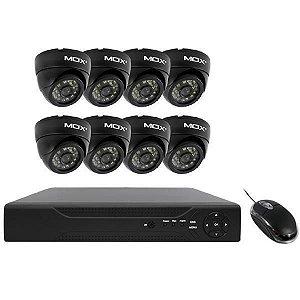 CCTV MO-KIT800D Mox interna / 8 câmeras infra / c/ mouse - Preto