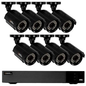 Kit CFTV QSee HD QTH83 8 Canais H.264 + 8 Câmeras de Interior/Exterior – Preto
