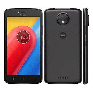 "Smartphone Motorola Moto C Plus XT1724 Dual Sim LTE 5.0"" 16GB Câm.8MP+2MP-Preto"