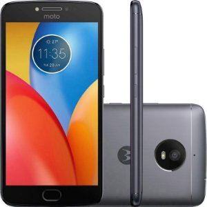 """Smartphone Motorola Moto E4 Plus XT1771 3GB+16GB LTE Dual Sim 5.5""""Câm.13MP+5MP - CINZA GRAFITE"""