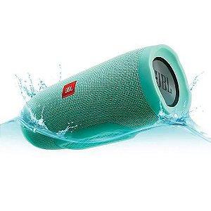 Caixa de Som Speaker Portatil JBL Flip 4 Bluetooth Prova d Agua IPX7 Verde