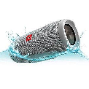 Caixa de Som Speaker Portatil JBL Flip 4 Bluetooth Prova d'Agua IPX7 Cinza