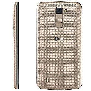 "Smartphone LG K10 K430dsy Dual SIM 16GB 4G Tela 5.3"" 13MP/5MP OS 6.0 - Dourado"
