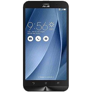 "Celular Smartphone Asus Zenfone Go ZB500KL 16GB LTE Dual Sim Tela 5"" HD Câm.13MP+5MP - PRATA"