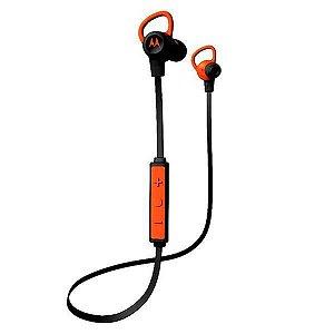 Fone de Ouvido Sem Fio Motorola VerveLoop+ SH002 Bluetooth – Preto/Laranja