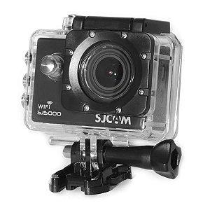 Câmera de Ação SJ5000 14MP-Wi Fi e Lente de 170º com LCD de 2.0 pol Elite 4K Preto
