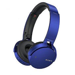 Fone Ouvido Sony Bluetooth Com Microfone Mdr-Xb650bt Azul