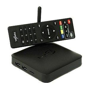 Receptor FTA Nazabox NZ TV2 4K Ultra HD com Wi-Fi - Preto