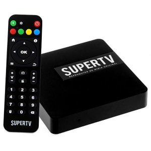 Reprodutor multimídia 4K Supertv OS01 com Wi-Fi/Bluetooth/USB Bivolt - Preto