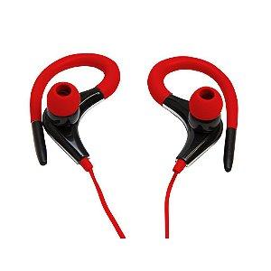 Fone de ouvido Vivitar Mod. V12586 Preto com Vermelho