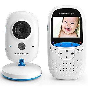 Babá Eletrônica Wireless Powerpack MTV23 Bivolt  Branco Azul
