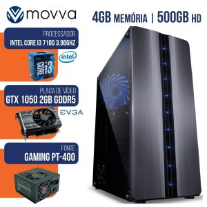 Computador Gamer Mvx3 Intel I3 7100 7Ger 4gb HD 500gb