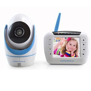"""Babá Eletrônica Powerpack MT-V388 3.5"""" Câmera Branco/Azul"""