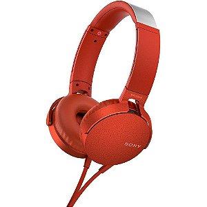 Fone de Ouvido Sony Extra Bass MDR-XB550AP - Vermelho