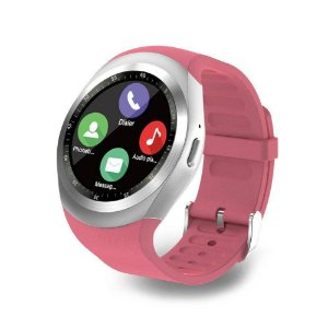 Smartwatch SN05 Bluetooth USB Chip Micro-SD Rosa
