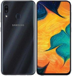 "Smartphone Samsung Galaxy A30 Dual Sim Lte 32GB 6.4"" - Preto"