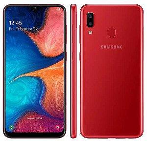 """Smartphone Samsung Galaxy A20 Dual Sim Lte 32GB 6.4"""" -Vermelho"""