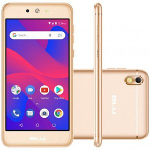 """Smartphone Blu Grand M2 Dual Sim 3G 5.2"""" Go Edition -Dourado"""