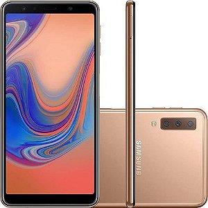 """Smartphone Samsung Galaxy A7 Lte Dual Sim 64GB 6.0"""" - Dourado"""