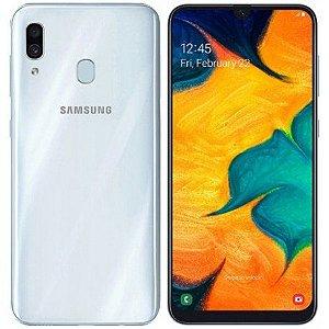 """Smartphone Samsung Galaxy A30 Dual Sim Lte 32GB 6.4"""" - Branco"""