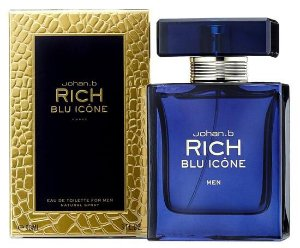 Perfume Geparlys Rich Blu Icone EDT M 90ML