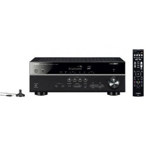 Receiver Yamaha RX-V485 5.1 CH 4K/HDMI/Wifi Bivolt - Preto