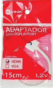 ADAPTADOR MINI DISPLAYPORT X HDMI FÊMEA 15CM MDP-H15CM