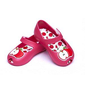 Sandália  Colorê  Baby. Pink Maçãzinha. Fecho Velcro.