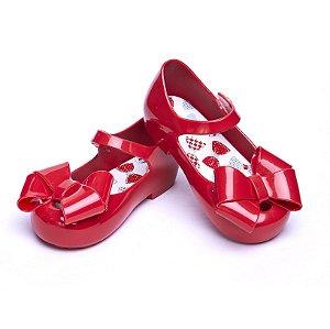 Sandália Colorê. Vermelha Laçarote