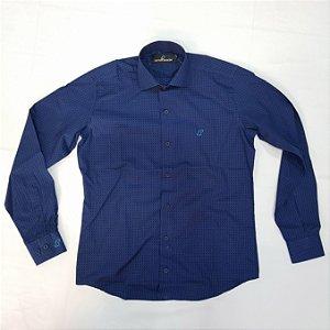 Camisa manga longa azul fio 50