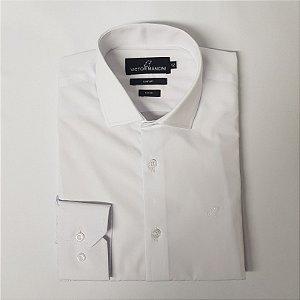 Camisa masculina manga longa branca