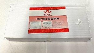 "BORRACHA DE SILICONE ""SILBRAS"" ESMERALDA - 1KG    cód:2058"