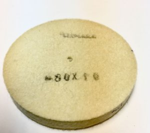 RODA DE FELTRO CLEMARA 80 X 10MM  cod:459