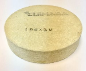 RODA DE FELTRO CLEMARA 100 X 20MM  cod:89
