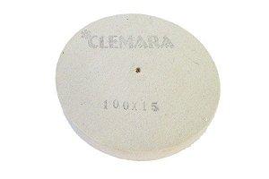 RODA DE FELTRO CLEMARA 100X15MM  cod:90