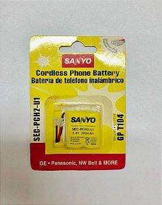 Bateria P/ TELEFONE SEM FIO SANYO T104