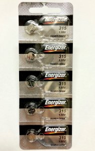 BATERIA 315/SR716SW – cartela com 5 peças   SONY,MURATA, MAXELL OU ENERGIZER