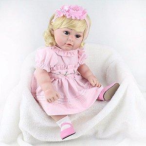 Rosinha a Bebe Reborn com rostinho de princesa