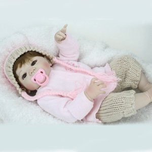 Bebe Reborn Giovanna de Corpo Inteiro em Silicone