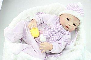 Bebe Reborn Valentina 58 Cm em Silicone