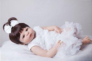 Bebe Reborn Stephanie Inteira em Silicone, (Pode tomar banho)