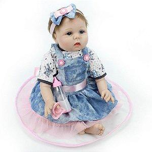 Bebe Reborn Kelly com 55cm de Altura - Pronta Entrega