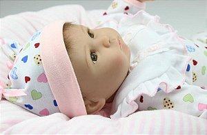 Bebê Reborn Amanda com Corpinho em Pano