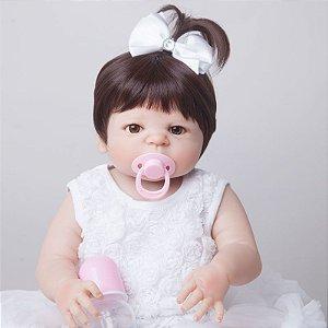 Bebe Reborn Stephanie Inteira em Silicone - Pronta Entrega
