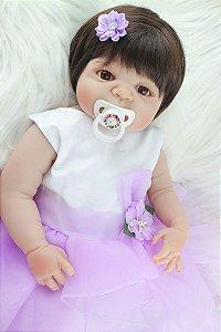 Bebe Reborn Fê com 55cm Inteira em Silicone- Lançamento 2017