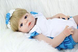 Bebe Reborn Ise Inteira em Silicone (Pode tomar banho)