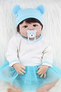 Bebe Reborn Sissi com 55cm e Inteira em Silicone - Lançamento 2017