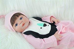 Bebe Reborn Laura com 55 Inteira em Silicone - Lançamento 2017