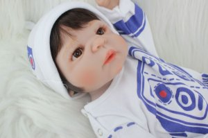 Bebe Reborn Brady com 55Cm Inteira em Silicone - Lançamento 2017