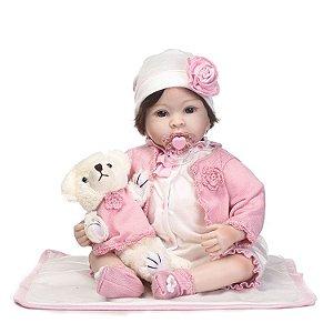 Bebe Reborn Pamela Puk 2018 - Exclusiva 55cm Só na Loja da Bebe Reborn!